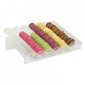 Macaroon display stand inclined model (7 rows)