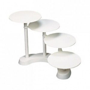 Cake stand half round stairs 4 tiers