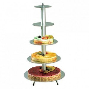 Round wedding cake stand (5 trays)