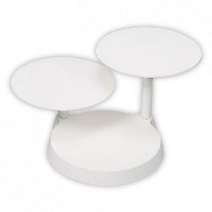 Présentoir rond blanc 3 gâteaux