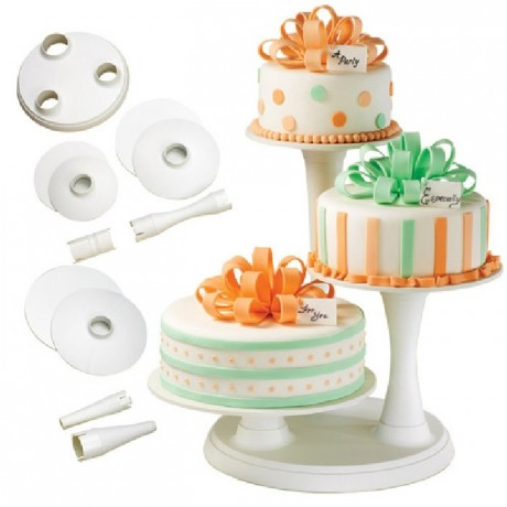 Wilton 3 Tier Pillar Cake Stand