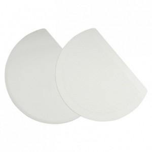Raclette pour bassine demi-ronde en polypropylène 198 x 149 mm
