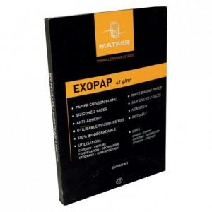 Rame de 500 papiers siliconés Exopap 530 x 325 mm