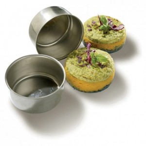 Ramekin mould stainless steel Ø 90 mm H 40 mm (2 pcs)