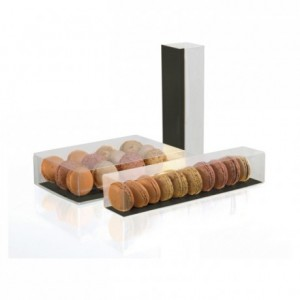 6 macarons long box (100 pcs)