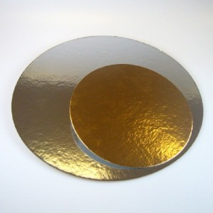 FunCakes Cake boards silver/gold Round 35cm pk/3