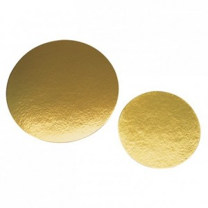 Gold round base Ø 200 mm (100 pcs)