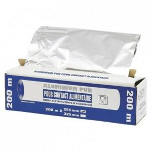 Rouleau aluminium en boite distributrice 295 mm x 200 m