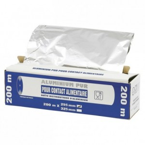 Rouleau aluminium en boite distributrice 440 mm x 200 m