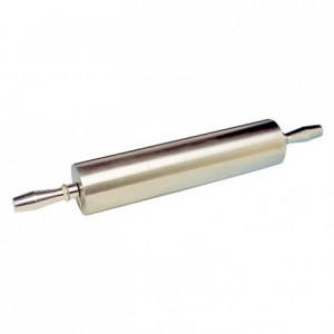 Aluminium rolling pin with handles L 380 mm Ø 90 mm