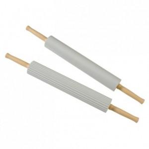 PVC plain rolling pin with handles L 400 mm Ø 65 mm