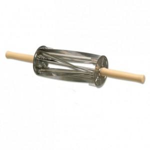 Rouleau coupe croissants L 350 mm en inox