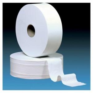 Rouleau de papier hygiénique ouate mini jumbo L 160 m (lot de 12)