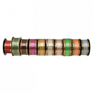 Ruban charlotte à dentelle fushia 23 m x 50 mm