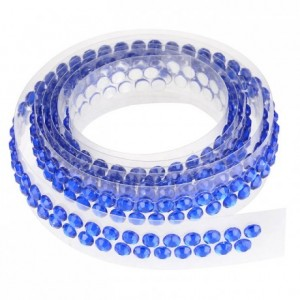 Ruban de strass 90 cm bleu