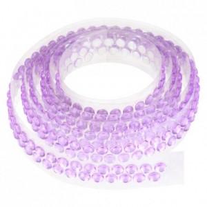 Ruban de strass 90 cm violet