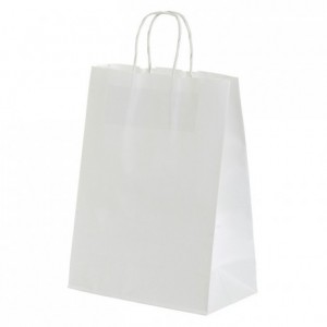 Paper shopping bag white 240 x 300 mm (50 pcs)