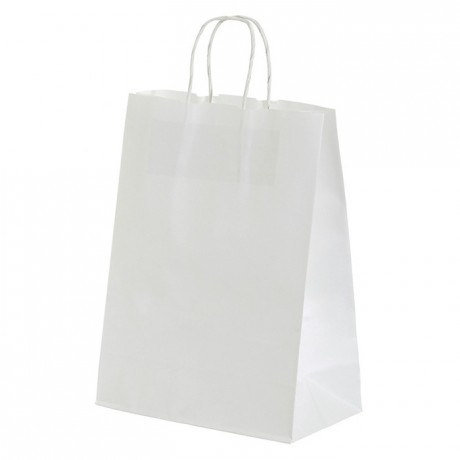 Paper shopping bag white 240 x 300 mm (50 pcs)