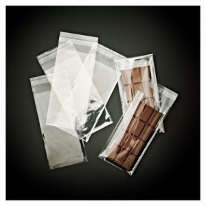Sachet à rabats adhésifs pour tablette de chocolat (lot de 500)