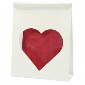 Case bag heart 165 x 130 mm (50 pcs)