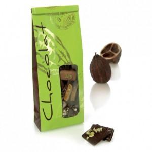 SOS chocolate bag lime green 250 g (50 pcs)