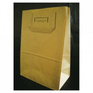 Brown kraft paper bag 300 x 220 mm (250 pcs)
