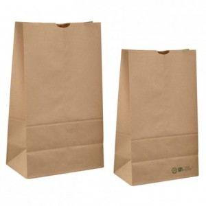 Brown kraft paper bag H 430 mm (250 pcs)