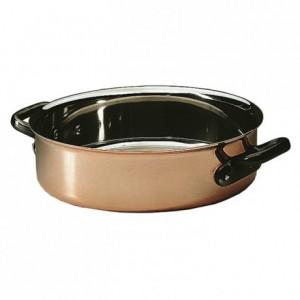 Sautoir Alliance cuivre/inox sans couvercle Ø 240 mm