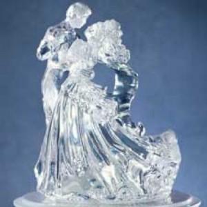 Sculpture transparente de jeunes mariés Wilton
