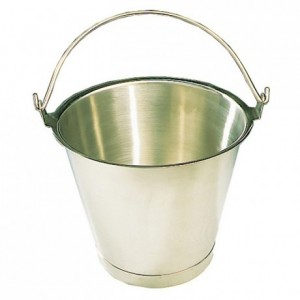 Graduated pail stainless steel 12 L