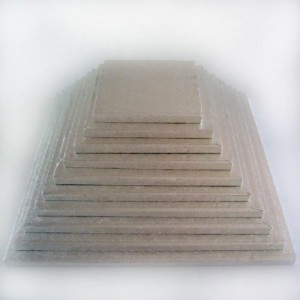 Semelle à gâteau FunCakes argentée carrée 30 cm