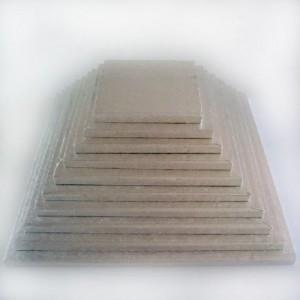 Semelle à gâteau FunCakes argentée carrée 37,5 cm