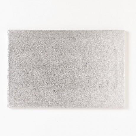 Semelle à gâteau FunCakes argentée rectangulaire 40 x 30 cm