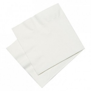 Cellulose napkin white 20 x 20 cm (100 pcs)