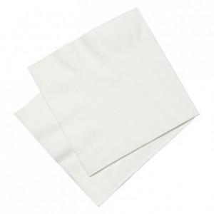 Serviette blanche 2 plis 20 x 20 cm (lot de 100)