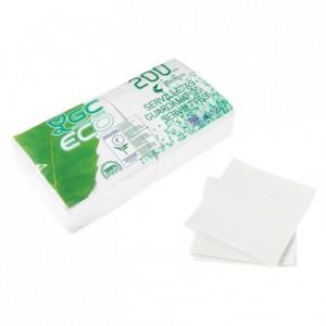 Serviette blanche éco 30 x 30 cm (lot de 4000) certifiées ECOLABEL