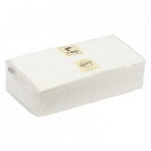 Serviette blanche 2 plis 40 x 40 cm (lot de 100)