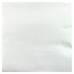Serviette double point blanc 38 x 38 cm (lot de 900)