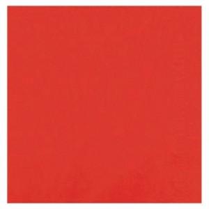 Serviette ouate rouge 39 x 39 cm (lot de 100)