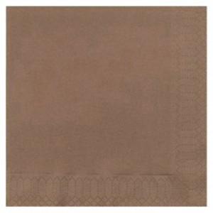 Serviette R'Soft chocolat 40 x 40 cm (lot de 50)