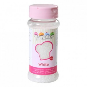 FunCakes Coloured Sugar White 80g