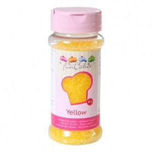 Sucre coloré FunCakes jaune 80 g