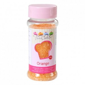 Sucre coloré FunCakes orange 80 g