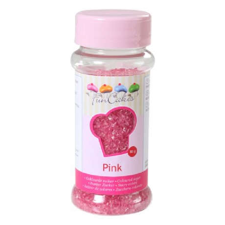 FunCakes Coloured Sugar Pink 80g