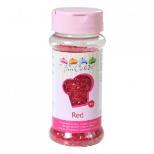 FunCakes Coloured Sugar Red 80g