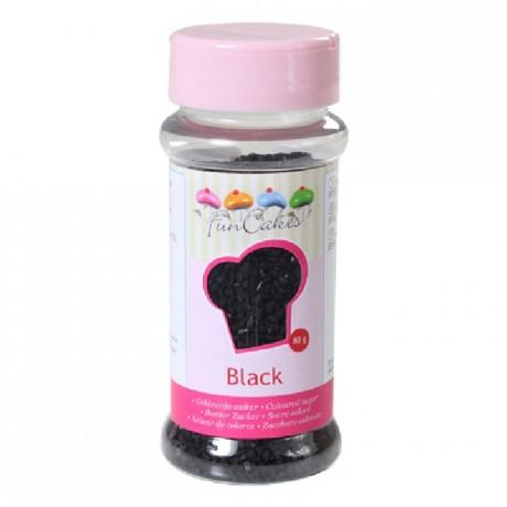 FunCakes Coloured Sugar Black 80g