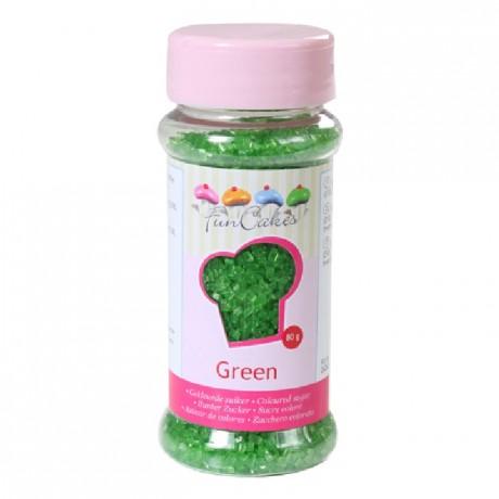 FunCakes Coloured Sugar Green 80g