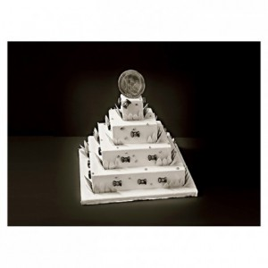 ABS insert French style square weeding cake L 480 mm