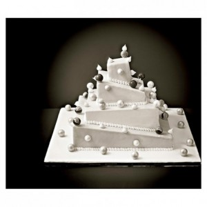 ABS insert French style de-stuctured weeding cake L 80 mm