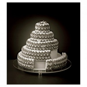 ABS insert French style round weeding cake Ø 160 mm